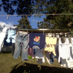 Hanging Laundry-Family Friday Linky