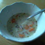 Easy Vegetable and Pork Soup-Hunk of Meat Monday