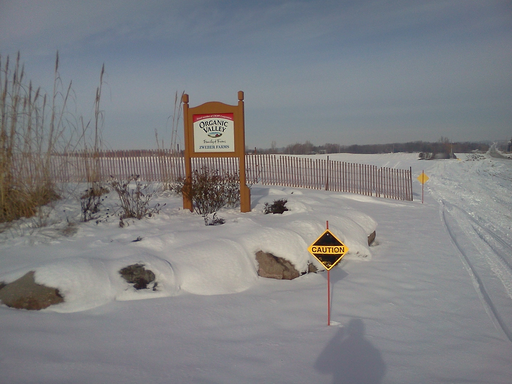 snow mobile trail signs