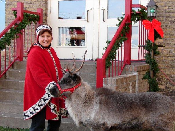 santa, christmas, photo, real reindeer, picture
