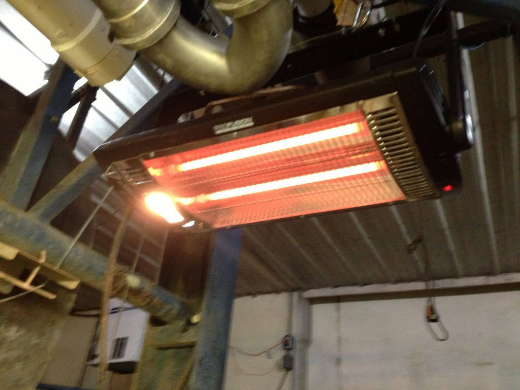milk parlor heater, extreme weather, mn, minnesota, organic, family farm