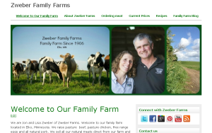 Zweber Farms, website, family farm, mn, minnesota