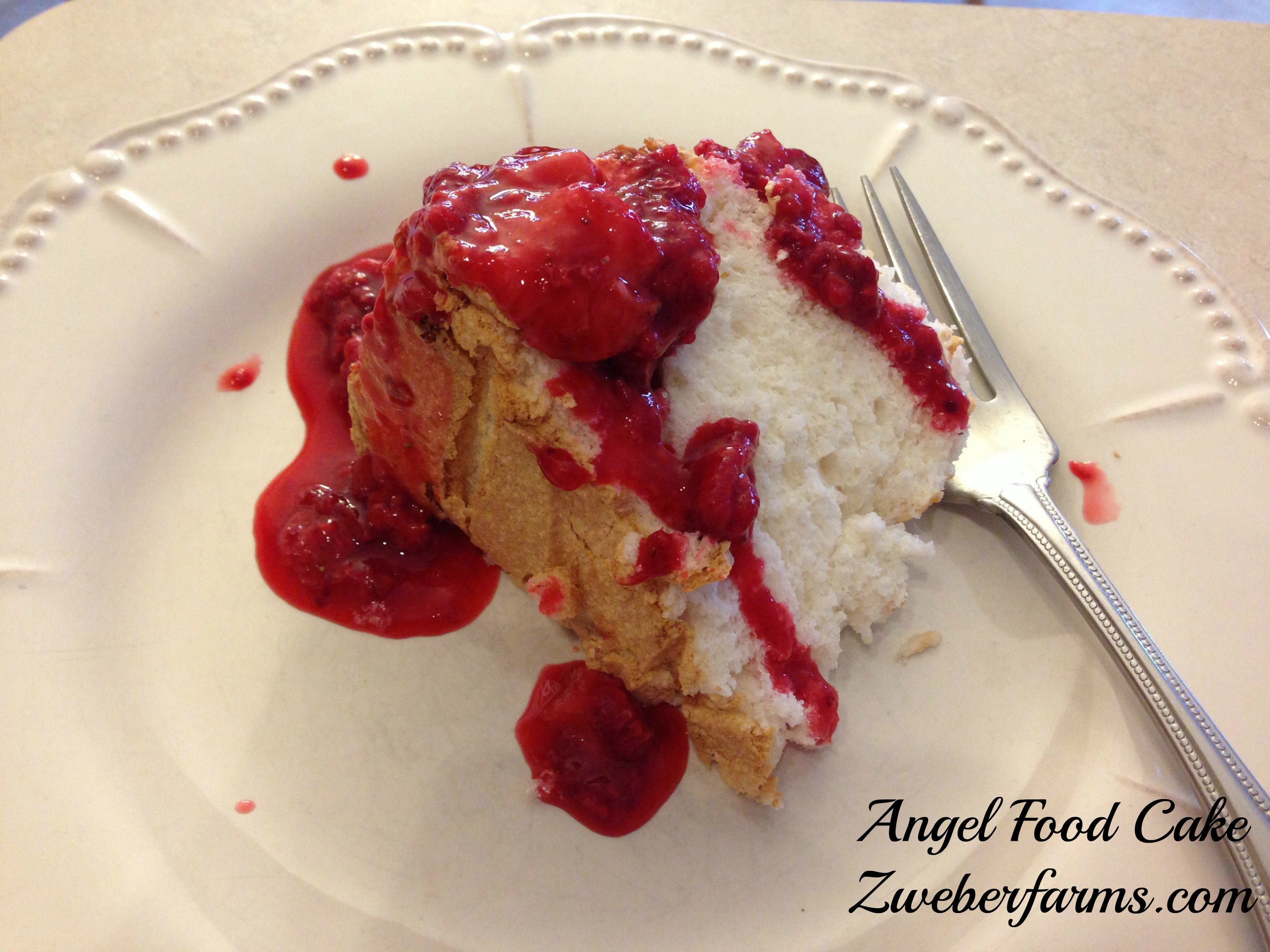 Easy angel food cake recipe zweber family farms simple easy recipe eggs for sale mn minnesota organic enjoy this easy angel food cake forumfinder Images