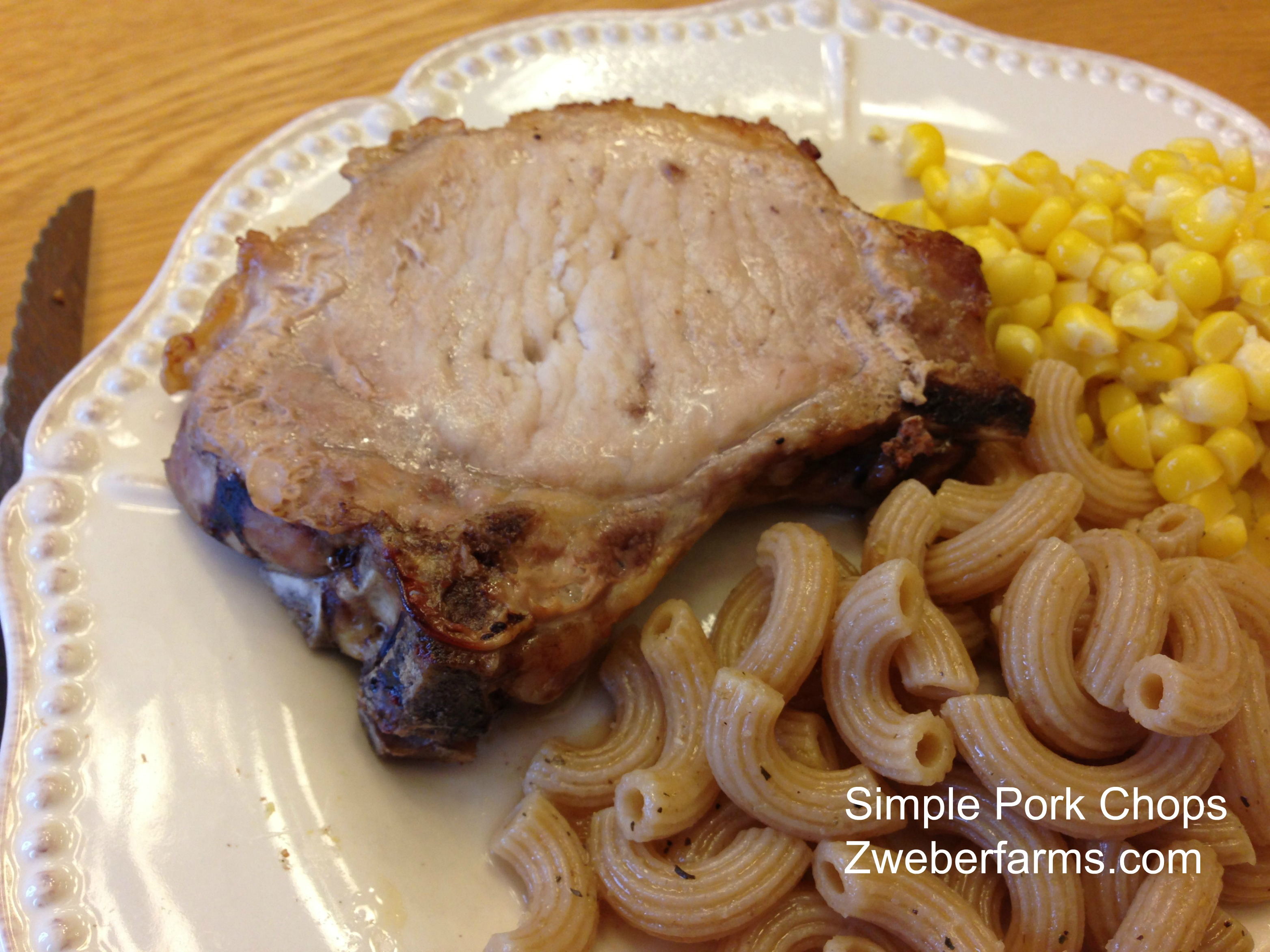 Simple Oven Baked Pork Chop Recipe, Zweberfarms