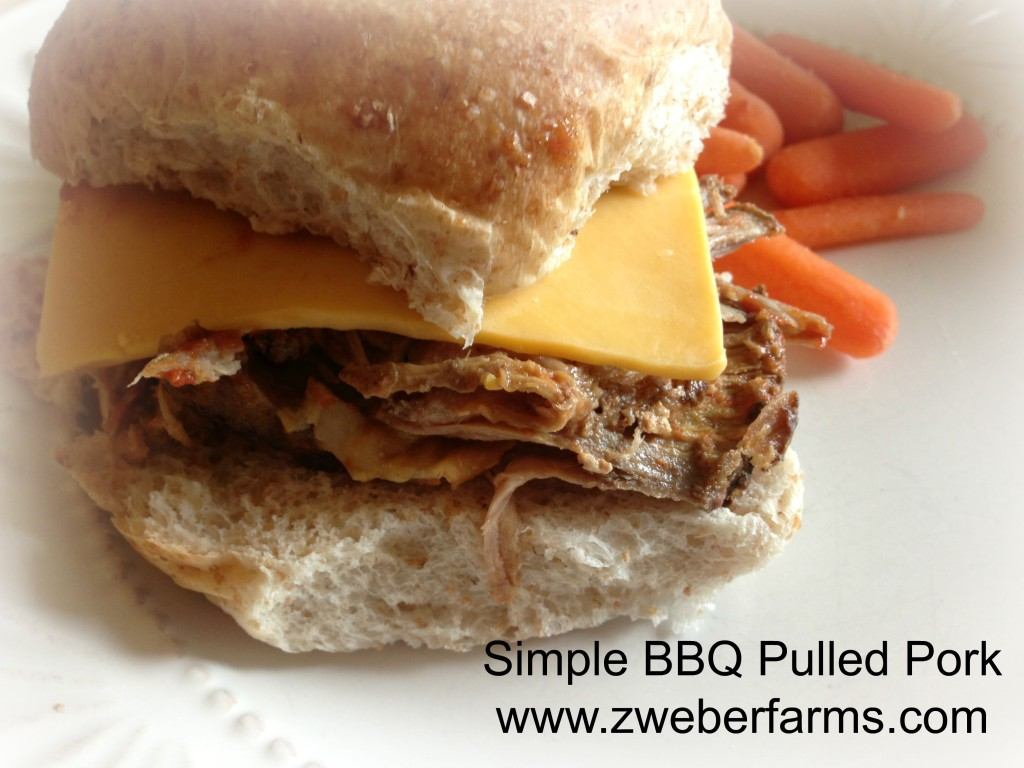 simple bbq pulled pork  www.zweberfarms.com