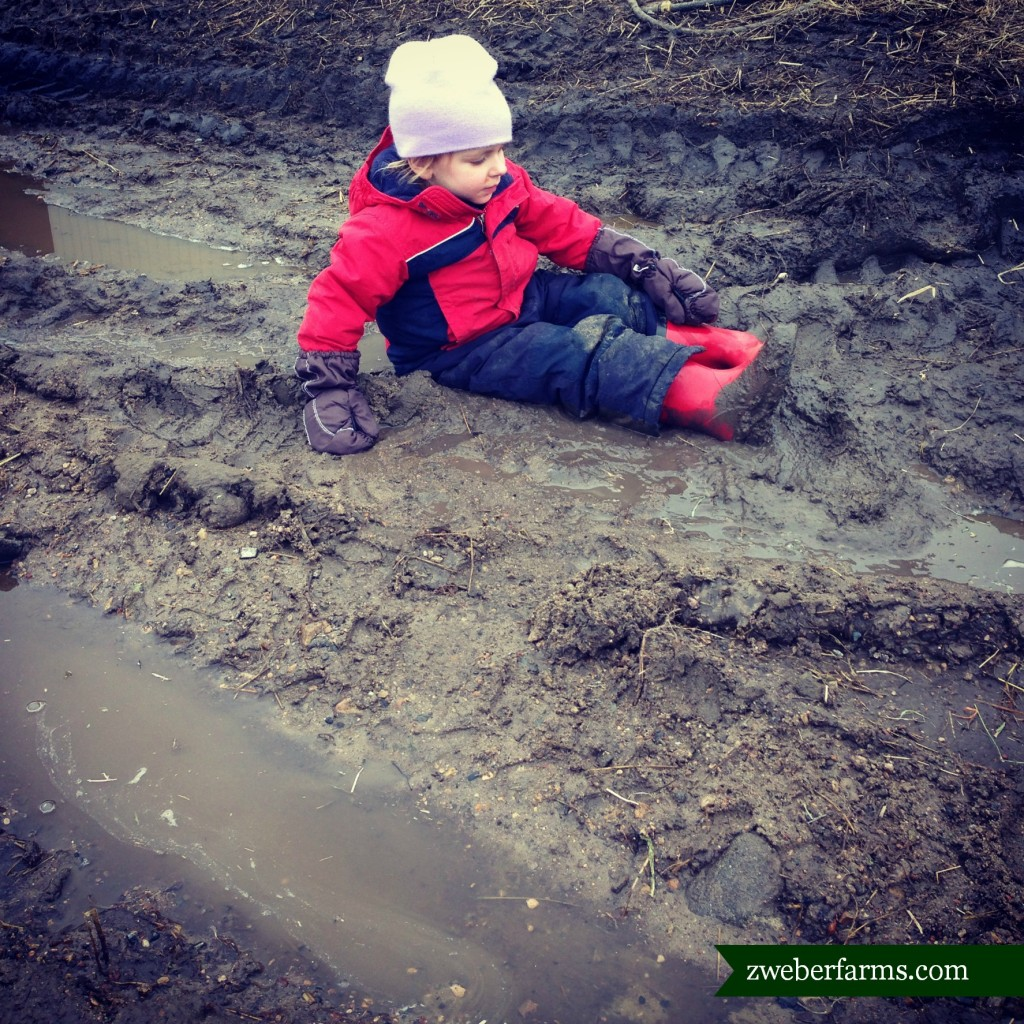 farm kid in mud via zweberfarms.com