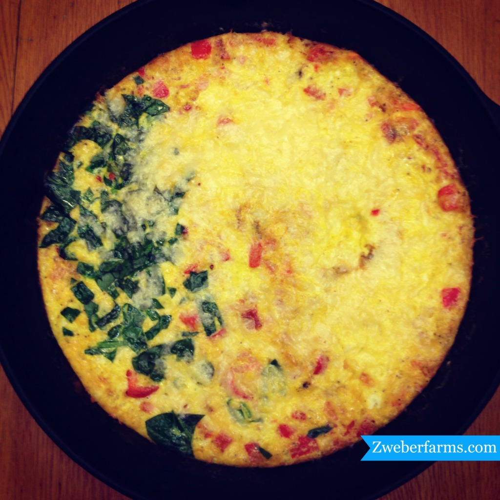 Easy Frittata Recipe via Zweberfarms.com