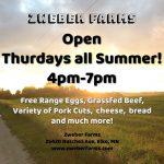 Zweber Farms Open Thursdays all summer (2021)